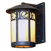 Craftsman/Mission Personalized Monogram Straight Arm Wall Sconce - Meyda 48629