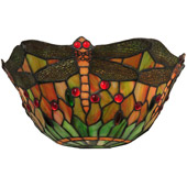 Tiffany Dragonfly Wall Sconce - Meyda 48912