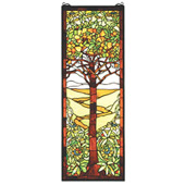 Tiffany Tree Of Life Stained Glass Window - Meyda 50671