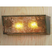Rustic Winter Pine Wall Sconce - Meyda 51690