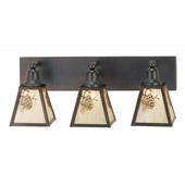 Rustic Winter Pine Vanity Light - Meyda 52459