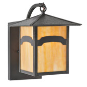 Craftsman/Mission Seneca Mountain View Curved Arm Wall Sconce - Meyda 63146