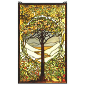 Tiffany Tree Of Life Stained Glass Window - Meyda 66668