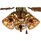 Tiffany Jeweled Grape Fan Light Shade - Meyda 67013