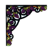Tiffany Jeweled Grape Stained Glass Corner Bracket - Meyda 67140