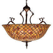 Tiffany Fishscale Inverted Hanging Lamp - Meyda Tiffany 67381