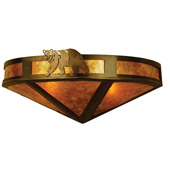 Rustic Northwoods Lone Bear Wall Sconce - Meyda 67990