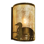 Rustic Loon Left Wall Sconce - Meyda 68172