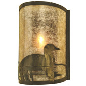 Rustic Loon Right Wall Sconce - Meyda 68173