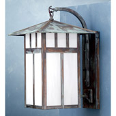 Craftsman/Mission Seneca Double Bar Curved Arm Wall Sconce - Meyda 72462