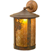 Rustic Fulton Winter Pine Wall Sconce - Meyda 73438