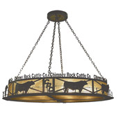 Rustic Personalized Chimney Rock Inverted Pendant - Meyda 73485