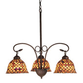 Tiffany Fishscale Chandelier - Meyda 74045