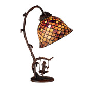 Tiffany Fishscale Accent Lamp - Meyda 74046