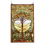 Tiffany Tree of Life Stained Glass Window - Meyda Tiffany 74065