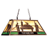 Rustic Personalized Pool Hall Island Light - Meyda 74106