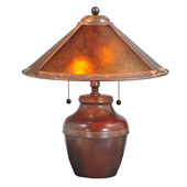 Craftsman/Mission Dirk Van Erp Mica Table Lamp - Meyda Tiffany 77774