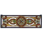 Tiffany Transom Evelyn In Topaz Stained Glass Window - Meyda 77908