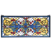 Tiffany Transom Sonja Stained Glass Window - Meyda 77909