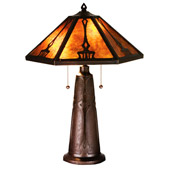 Craftsman/Mission Grenway Table Lamp - Meyda 78067