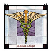 Tiffany Personalized Medical Stained Glass Window - Meyda 79885