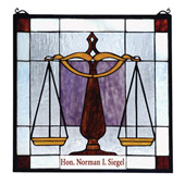 Tiffany Personalized Judicial Stained Glass Window - Meyda 79886