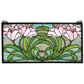 Tiffany Calla Lily Stained Glass Window - Meyda 79950