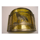 Rustic Northwoods Wolf On The Loose Wall Sconce - Meyda 81054
