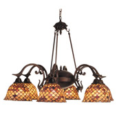 Tiffany Fishscale Six Light Chandelier - Meyda 81860