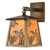 Rustic Ducks In Flight Lantern Hanging Lamp - Meyda Tiffany 82652