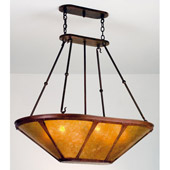 Craftsman/Mission Van Erp Inverted Pendant Island Light - Meyda 98383