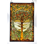 Tiffany Tree Of Life Stained Glass Window - Meyda 98944