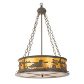 Rustic Loon Inverted Pendant - Meyda 99133