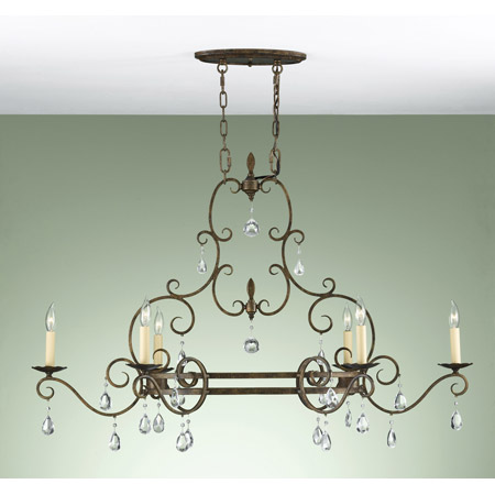 Murray Feiss F2304 6mbz Crystal Chateau Chandelier