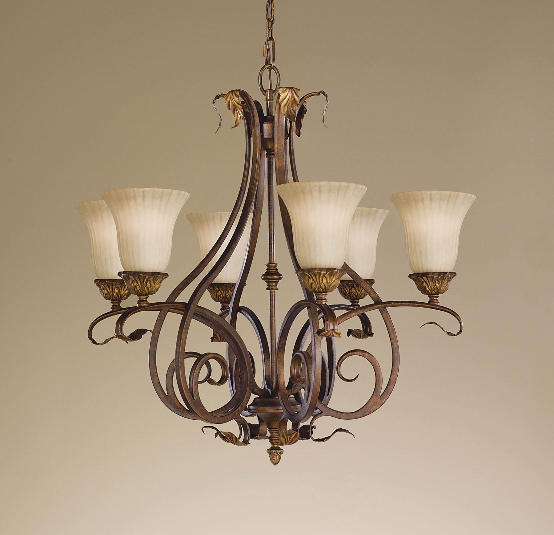 Murray Feiss Chandelier 6 Light: Murray Feiss F2076/6ATS Sonoma Valley Chandelier
