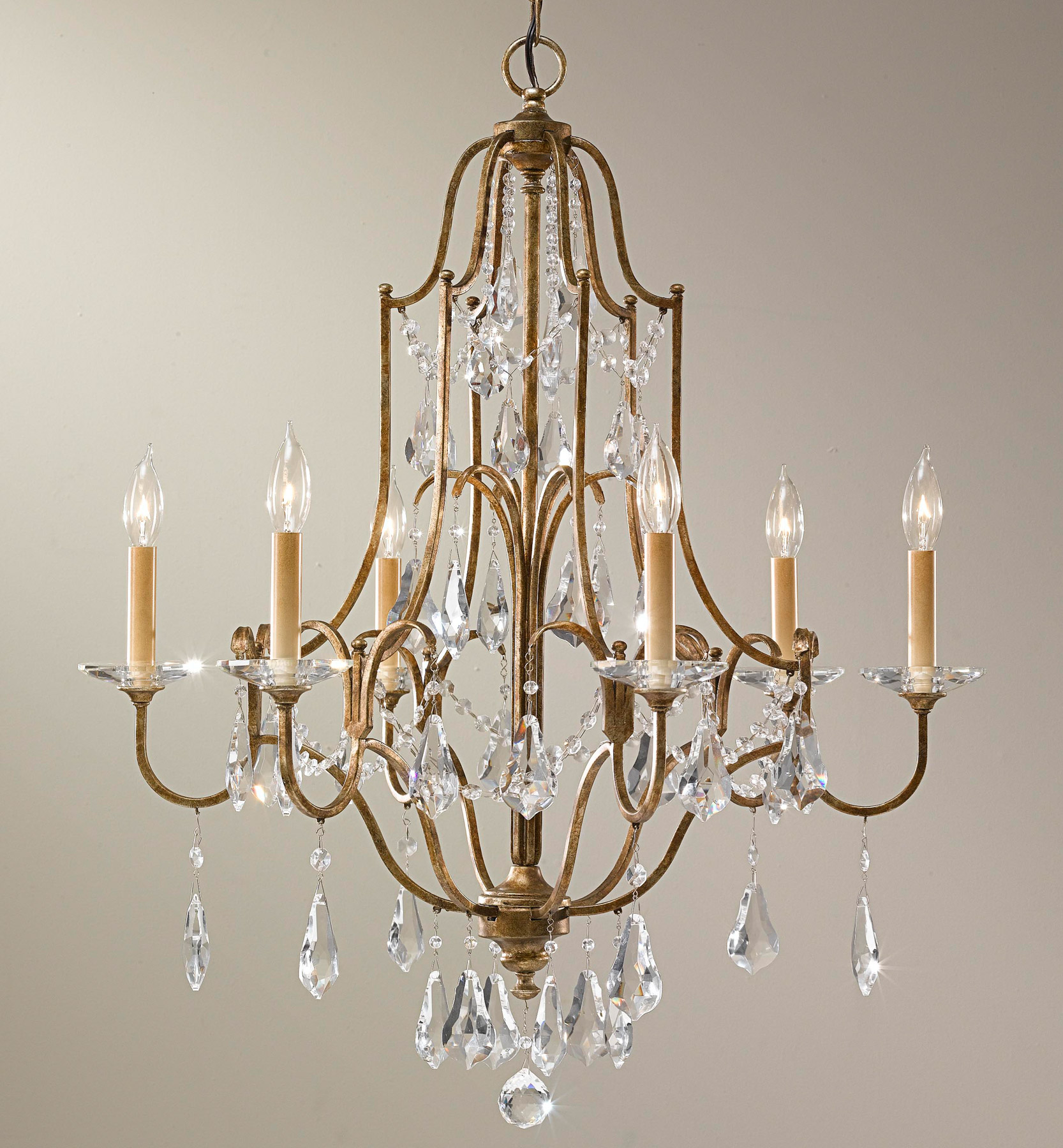 Murray Feiss F2478 6obz Crystal Valentina Six Light Chandelier