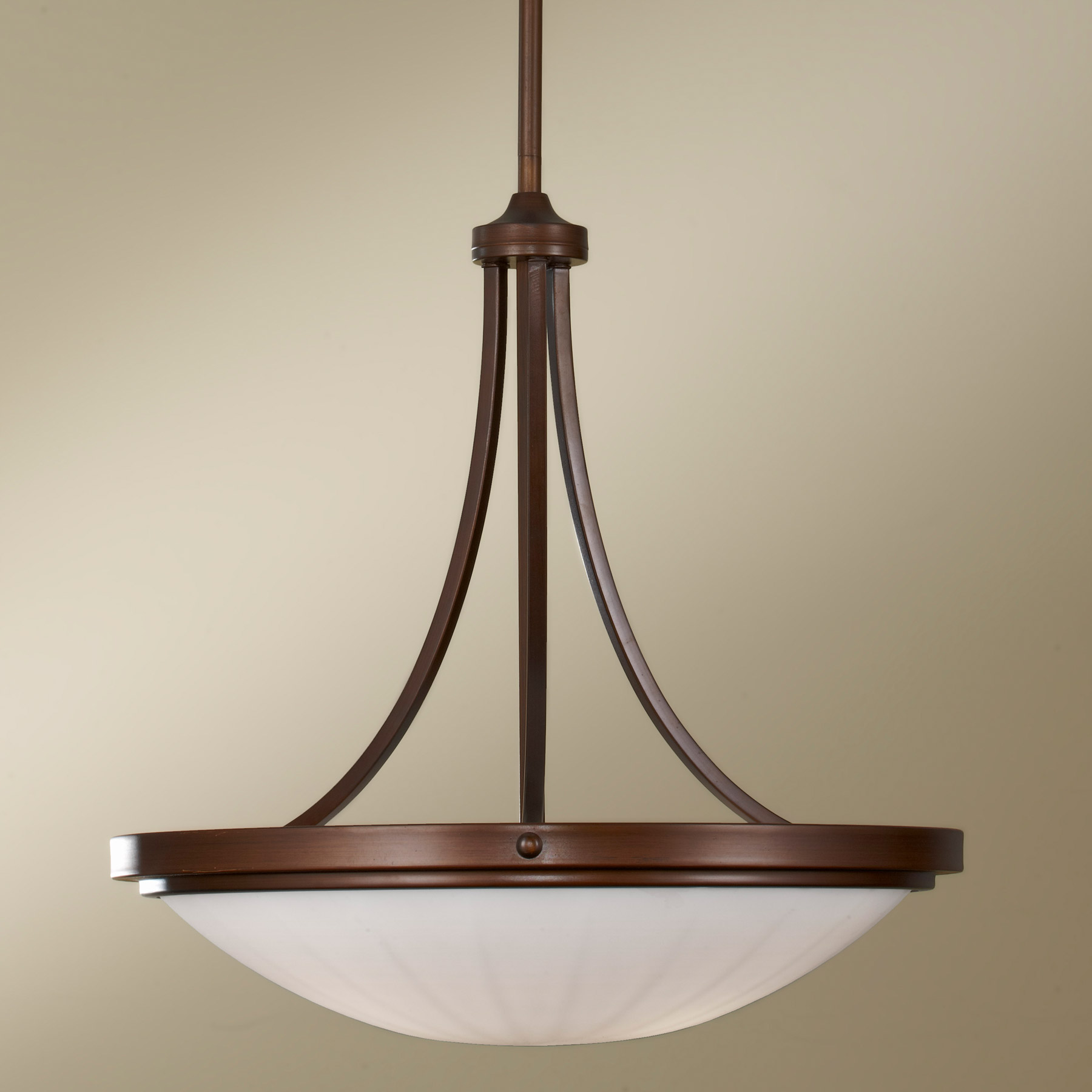 & Murray Feiss F2583/3HTBZ Perry Inverted Pendant