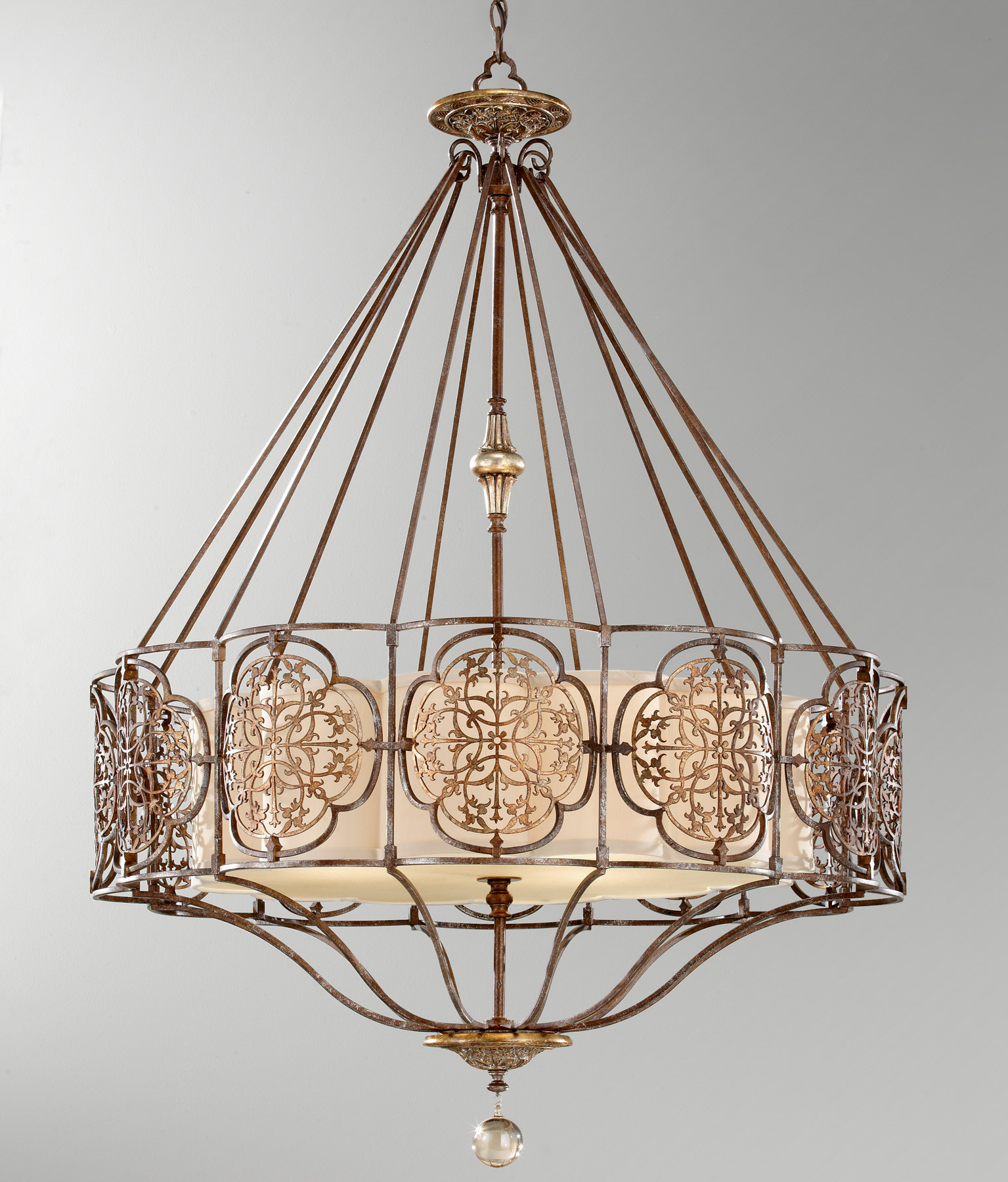 Feiss F2603 4BRB OBZ Marcella Four Light Chandelier