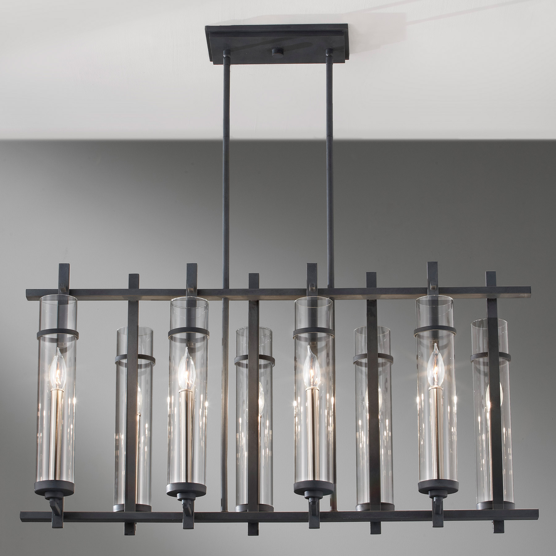 Murray feiss f26308afbs ethan eight light linear chandelier mozeypictures Image collections
