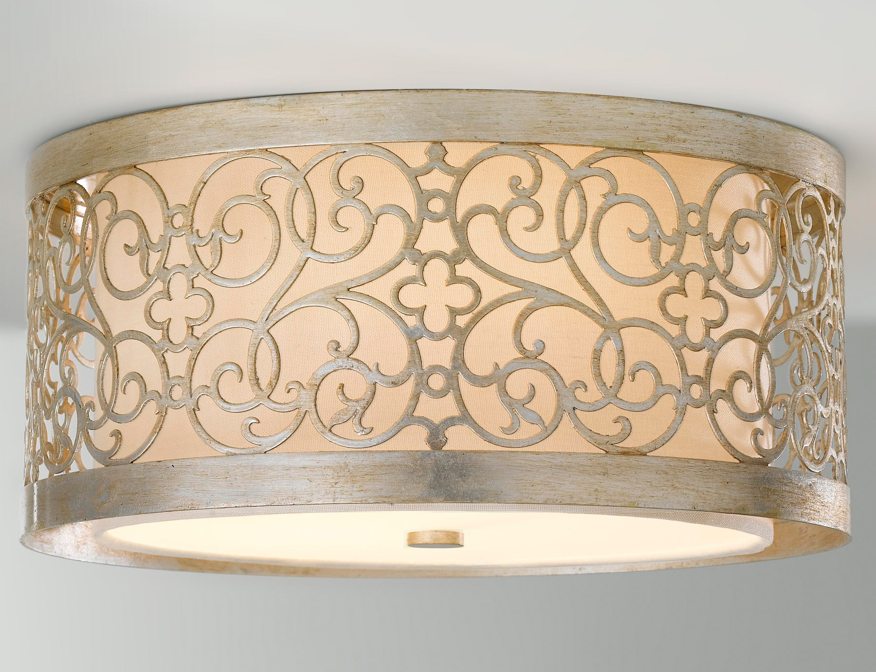 Murray Feiss FM339SLP Arabesque Flush Mount Ceiling Fixture