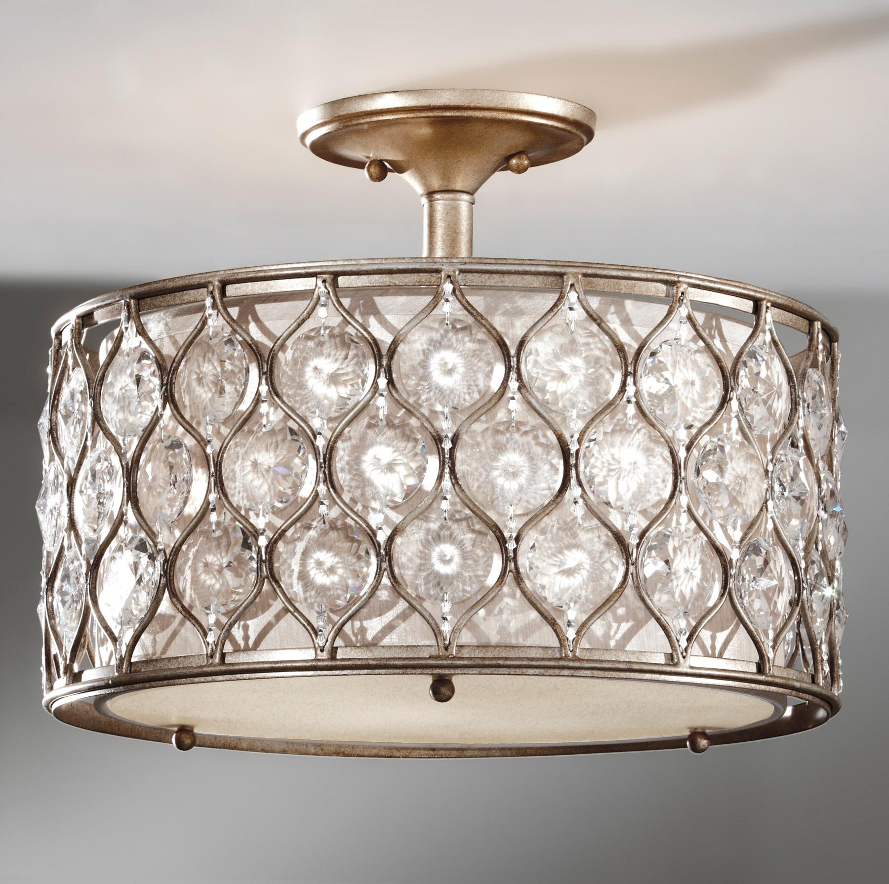 Ceiling fan crystal light fixture : Murray feiss sf bus crystal lucia semi flush ceiling fixture