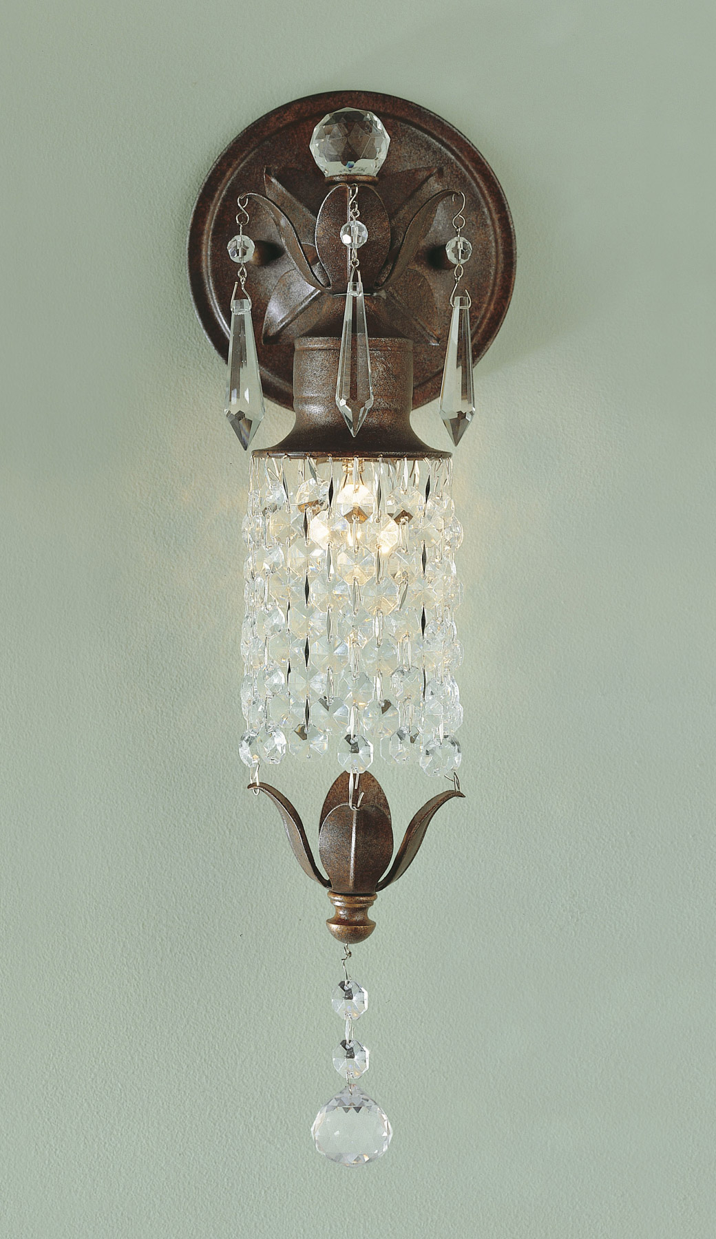Wall Sconces Murray Feiss : Murray Feiss WB1216BRB Crystal Maison de Ville Wall Sconce