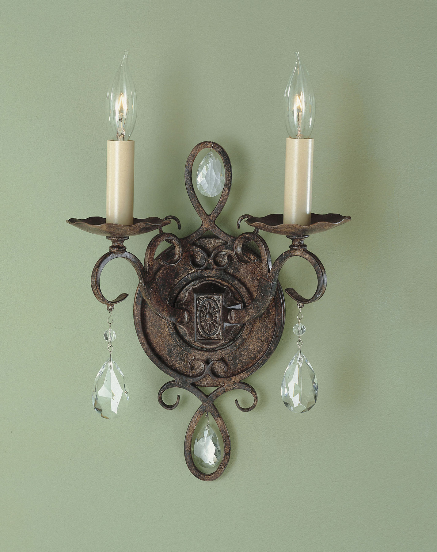 Wall Sconces Murray Feiss : Murray Feiss WB1227MBZ Crystal Chateau Wall Sconce