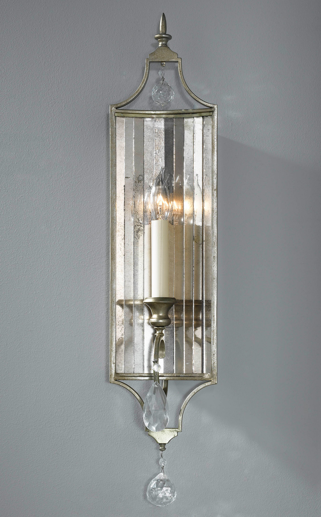 Wall Sconces Crystal : Murray Feiss WB1447GS Crystal Gianna Wall Sconce