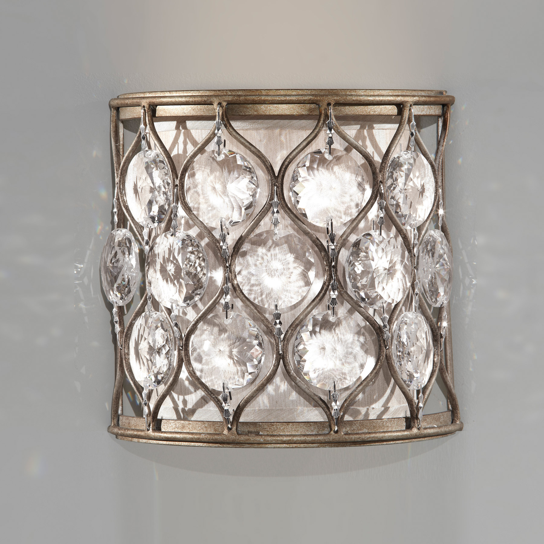 Murray Feiss Wb1497bus Crystal Lucia Wall Sconce
