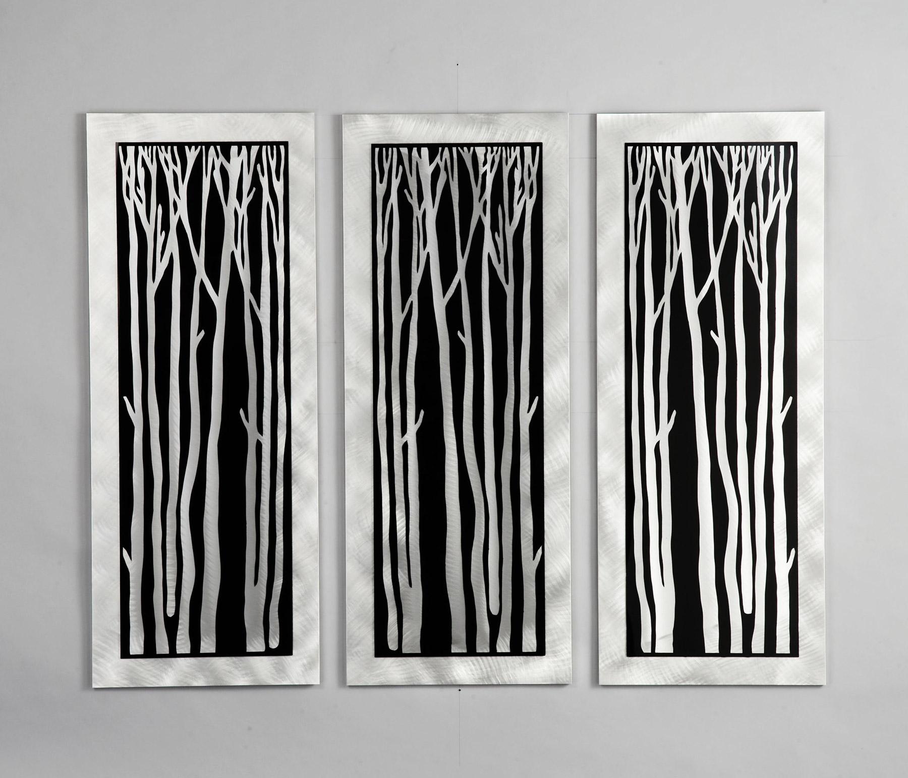nova lighting wg40502 silver birch 3 piece wall graphic