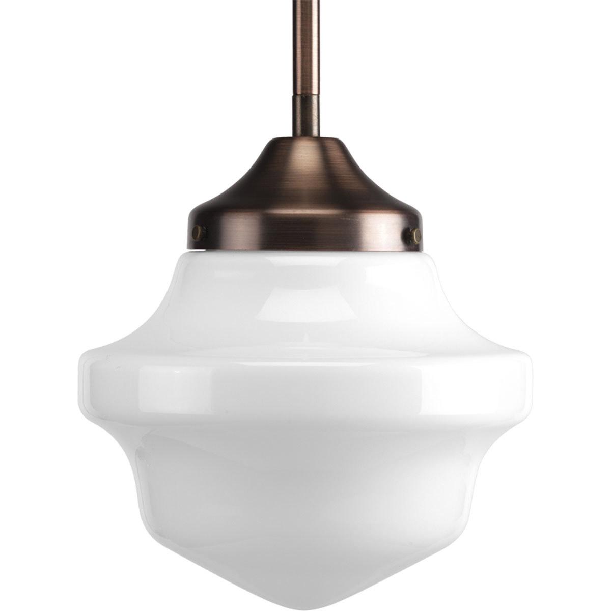 progress lighting p5196 124 schoolhouse mini pendant