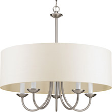 Progress Lighting P4217-09 Drum Shade Five-Light Chandelier