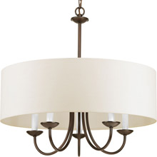 Progress Lighting P4217-20 Drum Shade Five-Light Chandelier