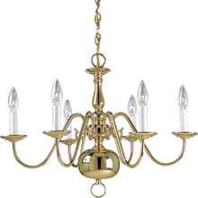 Progress Lighting P4356-10 Americana Six Light Chandelier